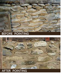 Howard Hall Farm example of lime mortar repointing