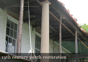 Howard Hall Federal Mansion Porch Restoration