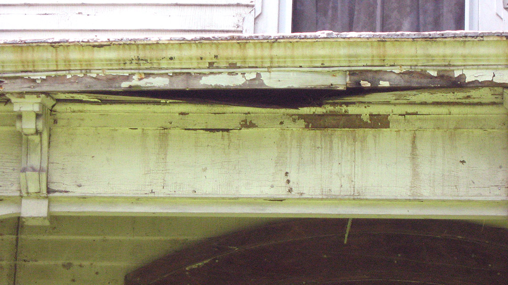 Rotten gutters and soffits