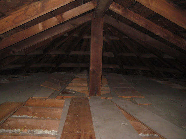 Attic before soy insulation