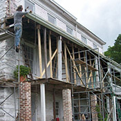 Howard Hall Farm Federal Mansion Porch Restoration