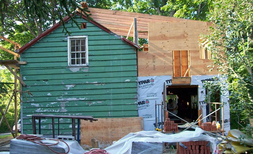 Upstairs addition